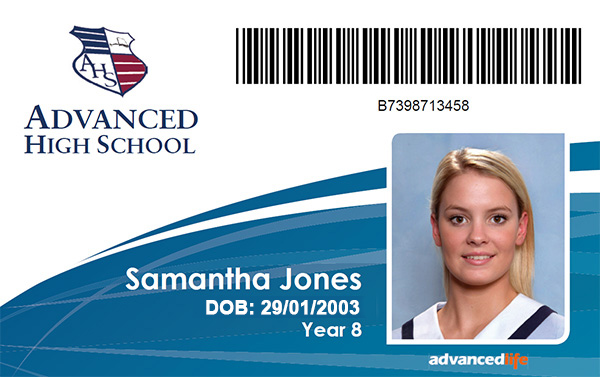 Id cards advancedlife school photography and print for School id badge template